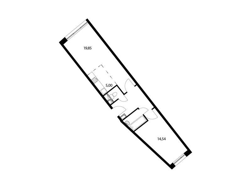 2-комнатная квартира в ЖК Парад Планет