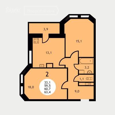 2-комнатная квартира в ЖК Ольховка-3