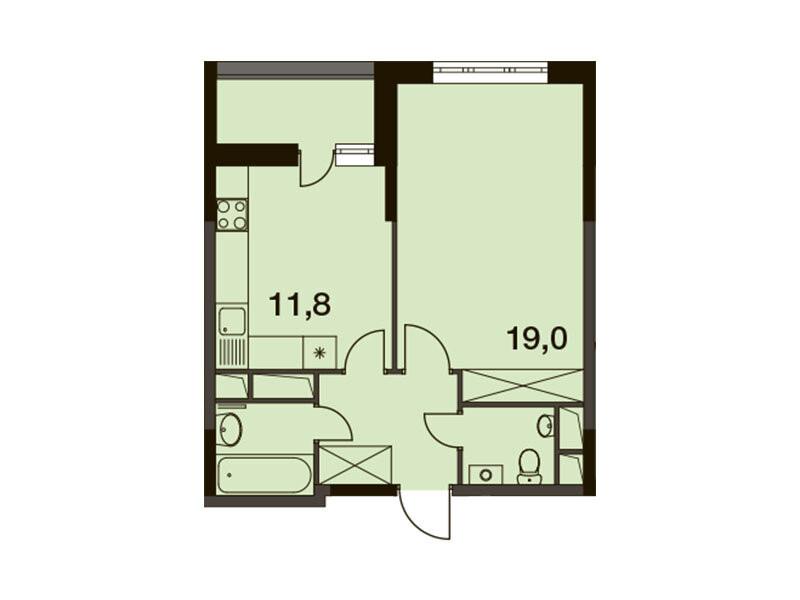 1-комнатная квартира в ЖК Новогиреевский