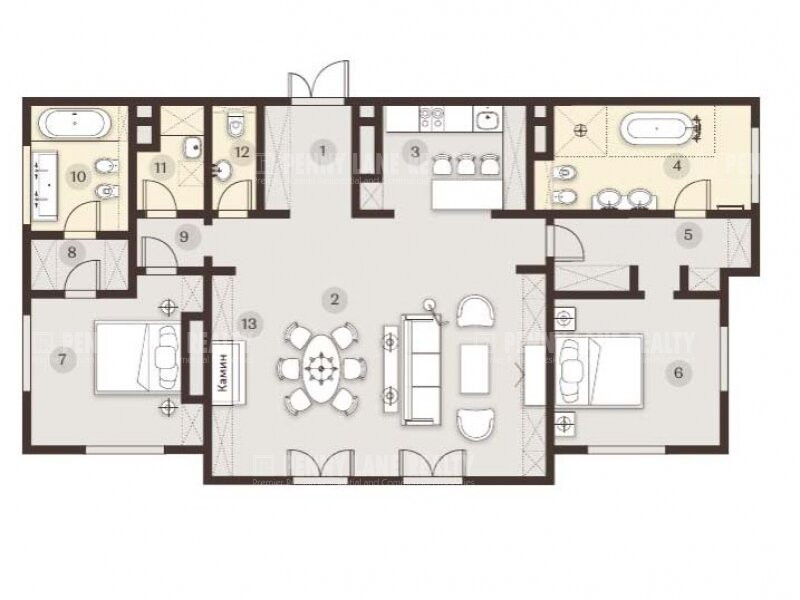 3-комнатная квартира в ЖК Косыгина, 21