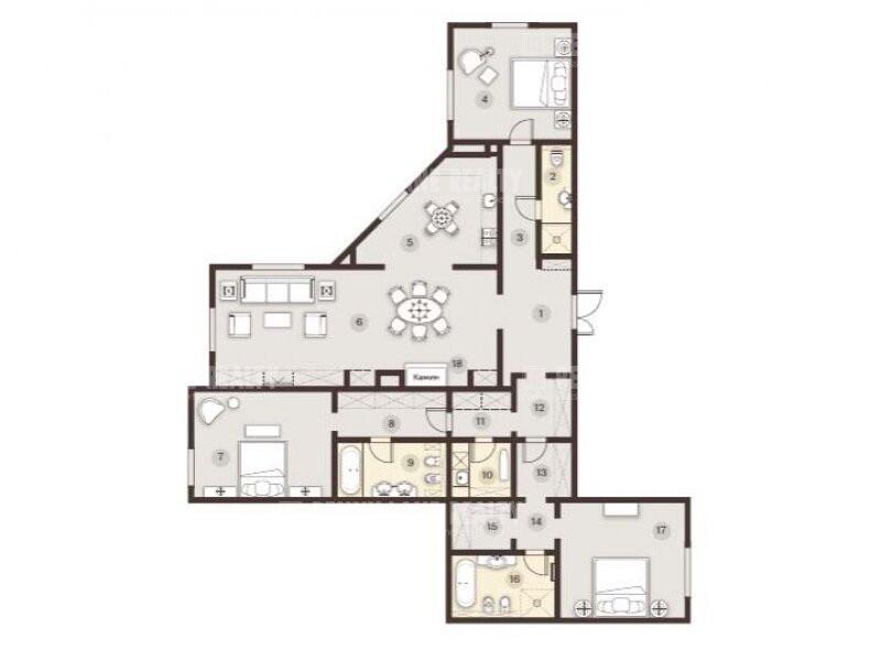 2-комнатная квартира в ЖК Косыгина, 21