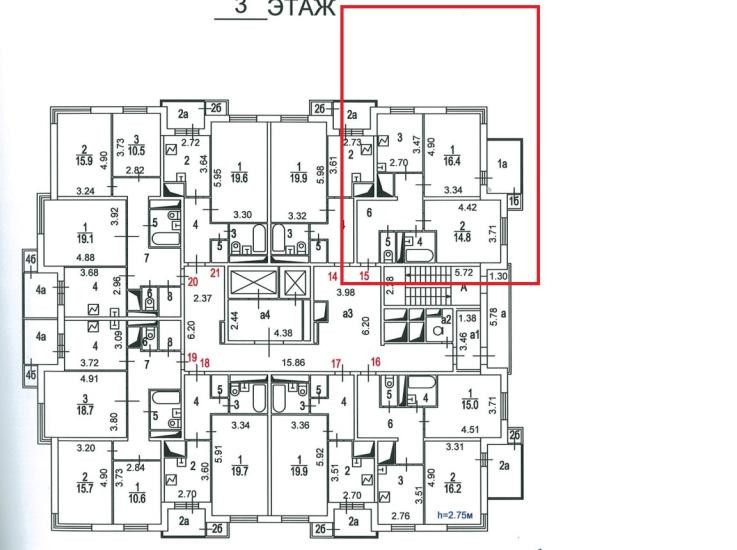 2-комнатная квартира в ЖК Зеленый бор