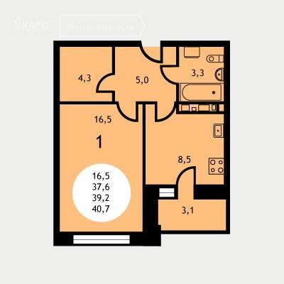 1-комнатная квартира в ЖК Ольховка-3
