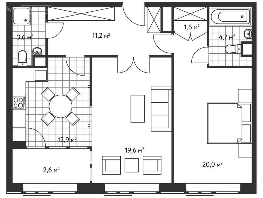2-комнатная квартира в ЖК Лидер на Масловке