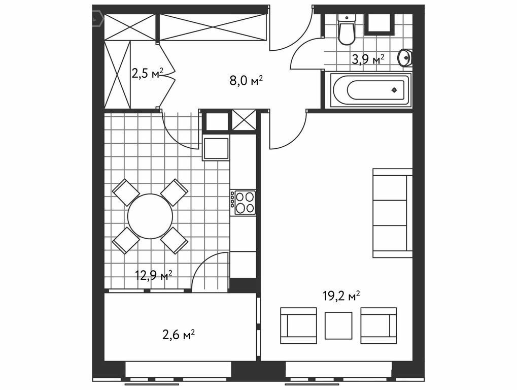 1-комнатная квартира в ЖК Лидер на Масловке