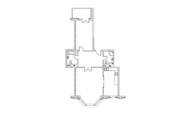 2-комнатная квартира в ЖК на Котельнической набережной 21