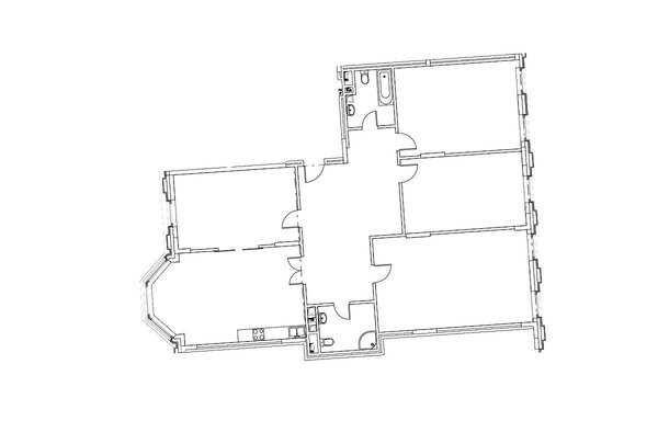 4-комнатная квартира в ЖК на Котельнической набережной 21